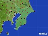 千葉県のアメダス実況(気温)(2020年08月09日)