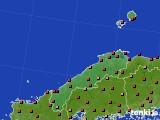 島根県のアメダス実況(気温)(2020年08月09日)