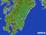 宮崎県のアメダス実況(気温)(2020年08月09日)