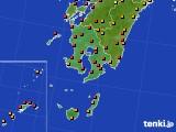 鹿児島県のアメダス実況(気温)(2020年08月09日)