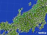 北陸地方のアメダス実況(風向・風速)(2020年08月09日)