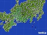 東海地方のアメダス実況(風向・風速)(2020年08月09日)