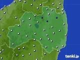 福島県のアメダス実況(風向・風速)(2020年08月09日)