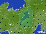2020年08月09日の滋賀県のアメダス(風向・風速)