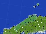 島根県のアメダス実況(風向・風速)(2020年08月09日)
