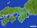 近畿地方のアメダス実況(降水量)(2020年08月10日)