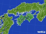 四国地方のアメダス実況(降水量)(2020年08月10日)