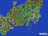 2020年08月10日の関東・甲信地方のアメダス(日照時間)