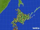 北海道地方のアメダス実況(気温)(2020年08月10日)