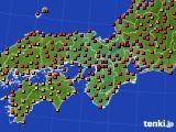 近畿地方のアメダス実況(気温)(2020年08月10日)