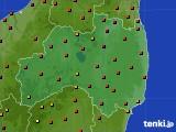福島県のアメダス実況(気温)(2020年08月10日)