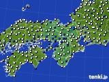 近畿地方のアメダス実況(風向・風速)(2020年08月10日)