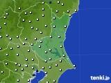 茨城県のアメダス実況(風向・風速)(2020年08月10日)