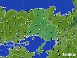 兵庫県のアメダス実況(風向・風速)(2020年08月10日)
