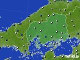 広島県のアメダス実況(風向・風速)(2020年08月10日)