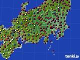 2020年08月11日の関東・甲信地方のアメダス(日照時間)