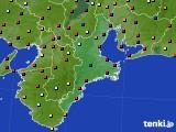 2020年08月11日の三重県のアメダス(日照時間)