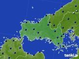 山口県のアメダス実況(日照時間)(2020年08月11日)