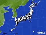 2020年08月11日のアメダス(風向・風速)
