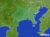 神奈川県のアメダス実況(風向・風速)(2020年08月11日)