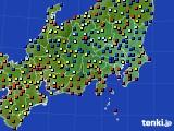 2020年08月12日の関東・甲信地方のアメダス(日照時間)