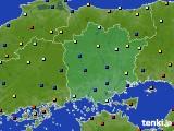岡山県のアメダス実況(日照時間)(2020年08月12日)