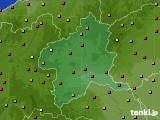 群馬県のアメダス実況(気温)(2020年08月12日)