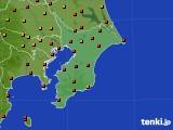 千葉県のアメダス実況(気温)(2020年08月12日)