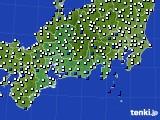 東海地方のアメダス実況(風向・風速)(2020年08月12日)
