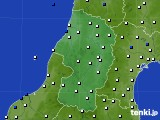 2020年08月12日の山形県のアメダス(風向・風速)