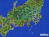 関東・甲信地方のアメダス実況(日照時間)(2020年08月13日)