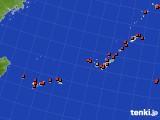 2020年08月13日の沖縄地方のアメダス(気温)