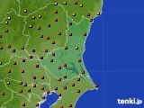 茨城県のアメダス実況(気温)(2020年08月13日)