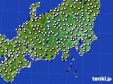 関東・甲信地方のアメダス実況(風向・風速)(2020年08月13日)