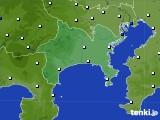 神奈川県のアメダス実況(風向・風速)(2020年08月13日)