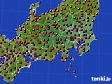 関東・甲信地方のアメダス実況(気温)(2020年08月15日)