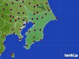 千葉県のアメダス実況(気温)(2020年08月15日)
