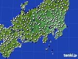 関東・甲信地方のアメダス実況(風向・風速)(2020年08月15日)