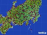 2020年08月16日の関東・甲信地方のアメダス(日照時間)
