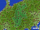 長野県のアメダス実況(気温)(2020年08月16日)