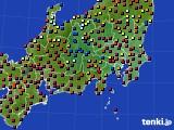 2020年08月17日の関東・甲信地方のアメダス(日照時間)