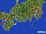 東海地方のアメダス実況(日照時間)(2020年08月17日)