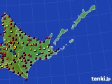 道東のアメダス実況(日照時間)(2020年08月17日)