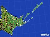 道東のアメダス実況(気温)(2020年08月17日)