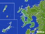 長崎県のアメダス実況(風向・風速)(2020年08月17日)