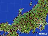 北陸地方のアメダス実況(日照時間)(2020年08月18日)
