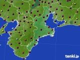 2020年08月18日の三重県のアメダス(日照時間)