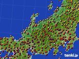 北陸地方のアメダス実況(気温)(2020年08月18日)