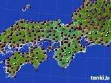 近畿地方のアメダス実況(日照時間)(2020年08月19日)