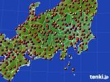 関東・甲信地方のアメダス実況(気温)(2020年08月19日)
